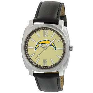 Gametime San Diego Chargers Black Leather Watch Sports