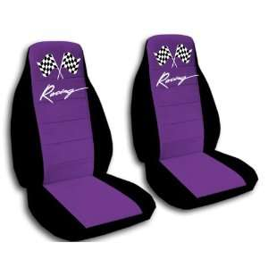 purple racing car seat covers for a 2009 Chevrolet Camaro. Automotive