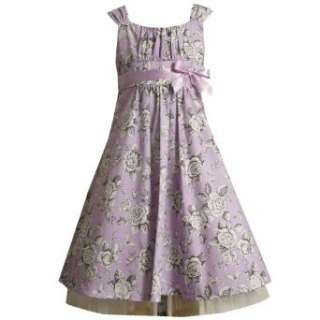 Bonnie Jean Girl PLUS SIZE LAVENDER PURPLE FLORAL TOILE