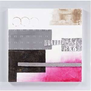Yosemite Home Decor YA100214C Bubblegum Pink III Hand Painted Abstract
