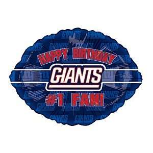 Happy Birthday #1 Fan! New York Giants Football Logo NFL