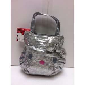 New Arrival Sanrio Hello Kitty Double Stripes Carryout Purse with One