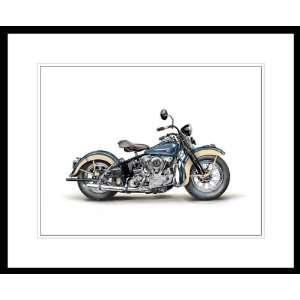 "1946 Harley Davidson Model EL Knucklehead Painting. 11"" x 17â"