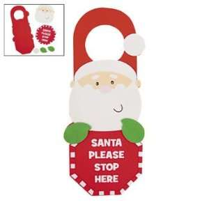 Santa Stop Here Door Hanger Craft Kit   Craft Kits