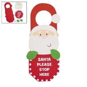 Santa Stop Here Door Hanger Craft Kit   Craft Kits