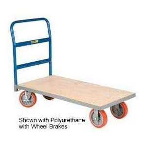 Armor Frame Wood Platform Truck, 30 X 60, Mort Wheels Office Products