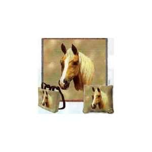 Palomino Horse Woven Tote Bag Home & Kitchen