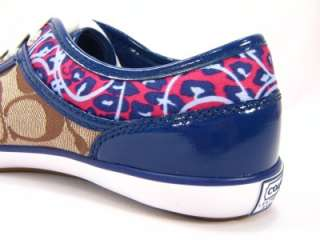 New Coach Zorra Signature Khaki Blue Ocelot Sneakers 7