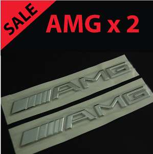2x AMG Emblem Mercedes Benz 3D rear logo decal badge