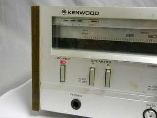 VINTAGE KENWOOD KR 710 STEREO RECEIVER AM FM TUNER AMPLIFIER JAPAN