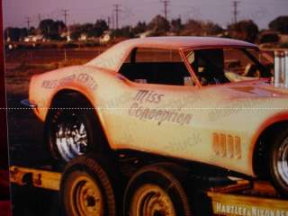 60s DRAG RACE FUNNY CAR PHOTO Corvette MISS CONCEPTION