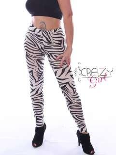 New Womens Ladies Animal Print Full Length Leggings Trousers Pants