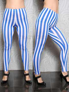 New Womens Full Length Girls Long Vertical Stripe Printed LEGGINGS