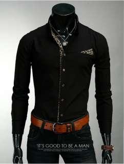Fashion Stylish Mens Slim Fit Leopard Tops Casual Dress Shirts XS,S,M