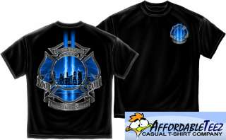 NEW 9 11 2001 FIRE TRIBUTE SHIRT(S 3XL) NEVER FORGET