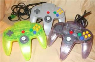 Nintendo 64 Console 3 Controllers 2 Memory Cards Rumble Pack 9 Games