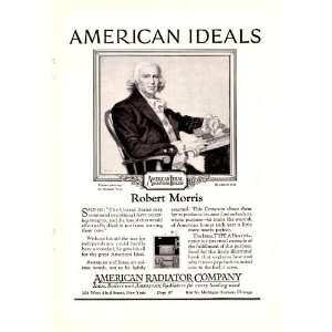 1923 Ad American Radiator Company Robert Morris American Ideal