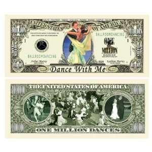 SET OF 5 BILLS BALLROOM DANCING MILLION DOLLAR BILL Toys & Games
