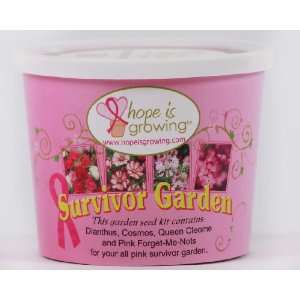 Breast Cancer Survivor Garden Kit (all pink flowers