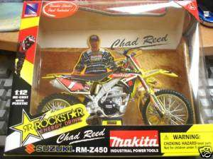 New Ray Rockstar Makita 112 Suzuki RM Z450 Chad Reed