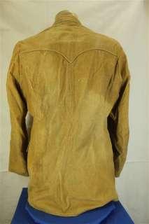Vtg Pioneer Wear Beige Corduroy Western Style Blazer Suit Jacket 42L