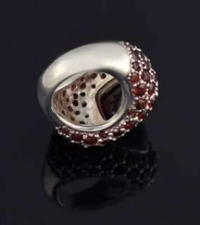 Red Garnet Sterling Silver Gemstone ss 925 Stone Ring