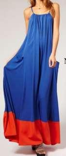 Esmerelda Colorblock Maxi Dress Chelsea Verde L