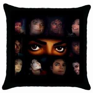 Faces of Michael Jackson Black Throw Pillow Case Home Decor Home