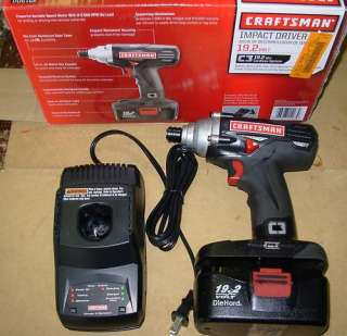 Craftsman 19.2 Volt Impact Driver Kit with battery ,charger and bits