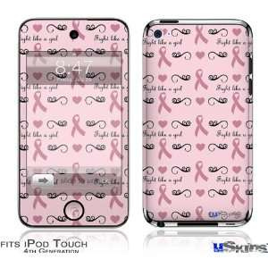 iPod Touch 4G Skin   Fight Like A Girl Breast Cancer Ribbons and
