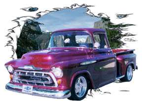 You are bidding on 1 1957 Burgundy Chevy Pickup Truck Custom Hot