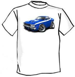 1973 74 Plymouth Roadrunner Muscle Car Cartoon Tshirt