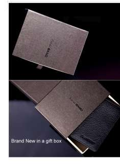 Mens Genuine Leather Bifold Wallet New in a gift box
