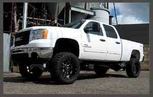 mcgaughys 2001 2010 gmc chevy 2500 truck 7 LIFT KIT 4wd spindle diff