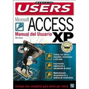 Microsoft Access XP Manual del Usuario Manuales Users, en