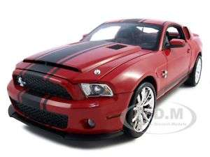 2010 FORD SHELBY MUSTANG GT500 SUPER SNAKE RED 1:18