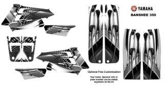 Yamaha Banshee 350 ATV Graphic Sticker Kit #7777METAL