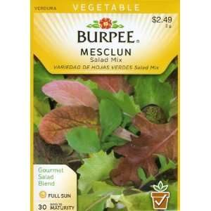 Burpee 57507 Mesclun Salad Mix Seed Packet Patio, Lawn