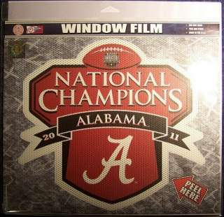 CRIMSON TIDE   WINDOW FILM   LARGE   2011 BCS NATIONAL CHAMPS   NCAA