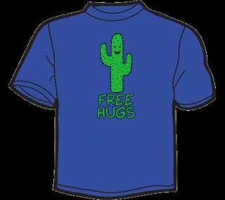 FREE HUGS T Shirt WOMEN funny vtg 80s threadless cactus