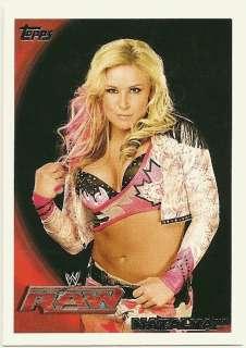 NATALYA #61 2010 WWE Topps card DIVA HART DYNASTY