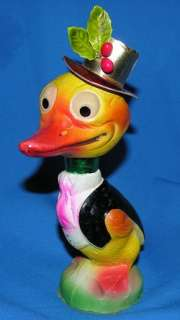 ADORABLE VTG 1920 PAPER MACHE GERMAN ART DECO EASTER DUCK CANDY