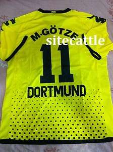 2011 2012 Borussia Dortmund Mario Gotze Soccer Jersey Home Shirt