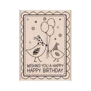 Wood Block Two Birds Birthday by Hero Arts: Home & Kitchen