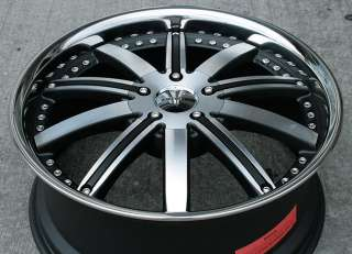 ZENETTI REIGN 20 BLACK RIMS WHEELS CAMRY AVALON