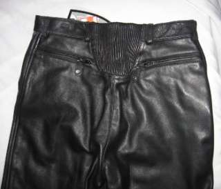 Black Cowhide Premium Leather Pants New Size 6 With Tag