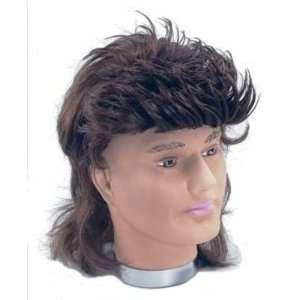 70s Brown Mullet Mens Fancy Dress Wig Inc FREE Wig Cap