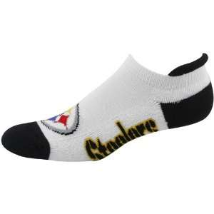 Steelers Ladies White Black Runners Ankle Socks: Sports & Outdoors