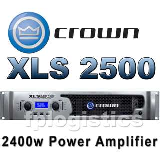 Crown Audio XLS 2500 2400W PA Power Amplifier Amp NEW