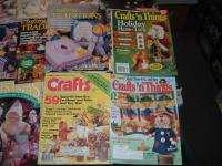 22 Vtg Lot Crafts Magazines Patterns Quilt Sew Crochet Paint